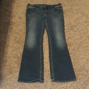 SUKI Silver Jeans size 34x33